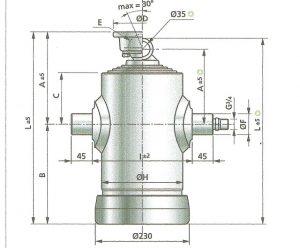 Hydraulický teleskopický valec Penta SC02/8